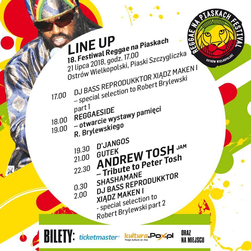 LINE UP festiwal 21 lipca